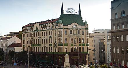 Meetings at      Hotel Moskva  in Belgrade