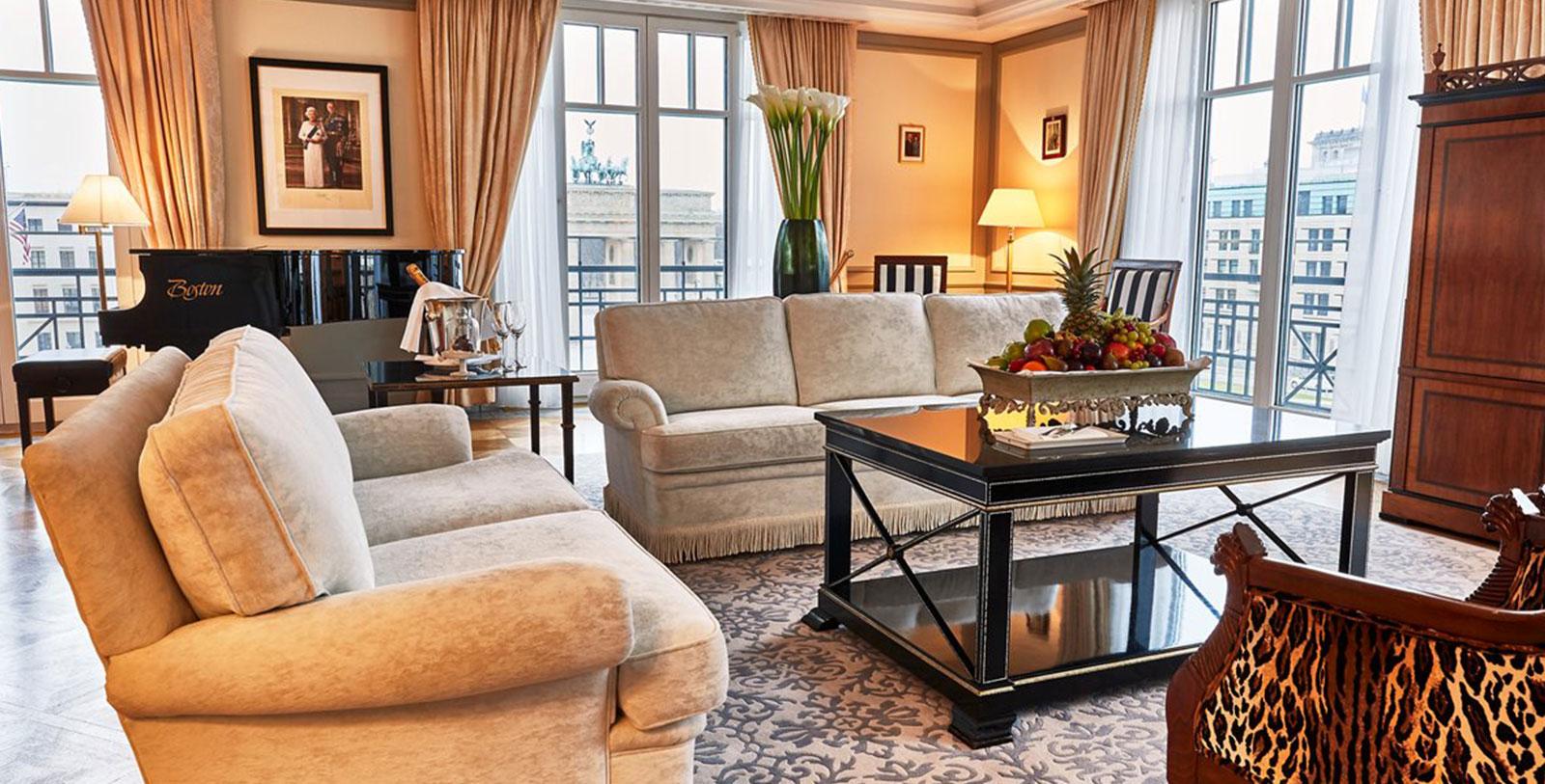 Image of Royal Suite Living Room Interior, Hotel Adlon Kempinski, Berlin, Germany, 1907, Member of Historic Hotels Worldwide, Accommodations