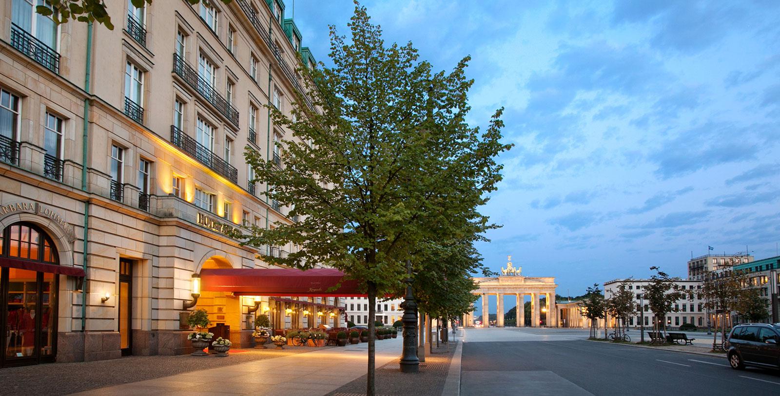 Image of Night Exterior, Hotel Adlon Kempinski, Berlin, Germany, 1907, Member of Historic Hotels Worldwide, History