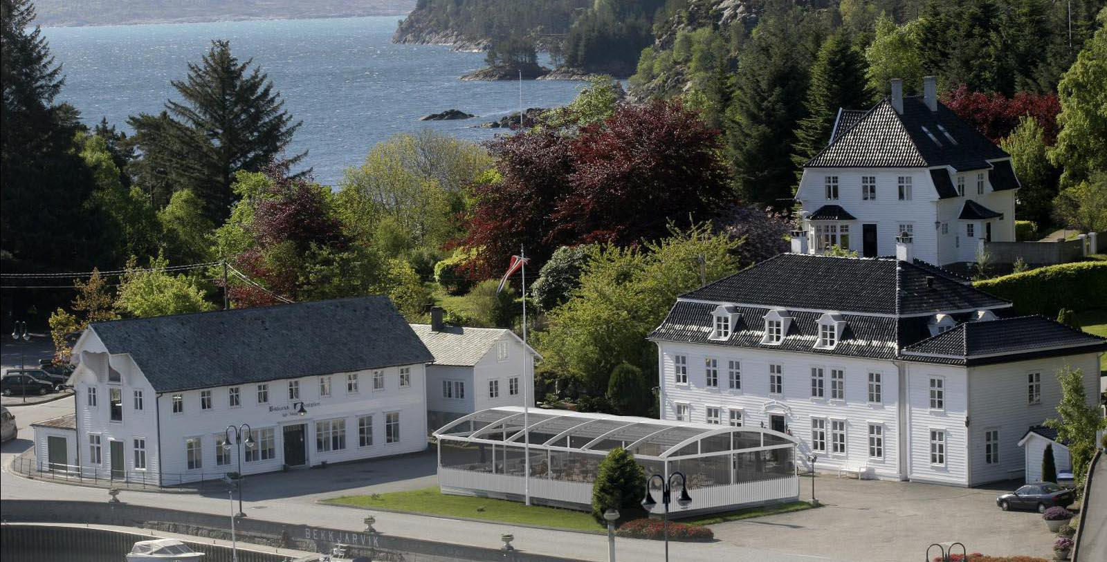 Image of hotel exterior Bekkjarvik Gjestgiveri, 1700s, Member of Historic Hotels Worldwide, in Norway, Discover