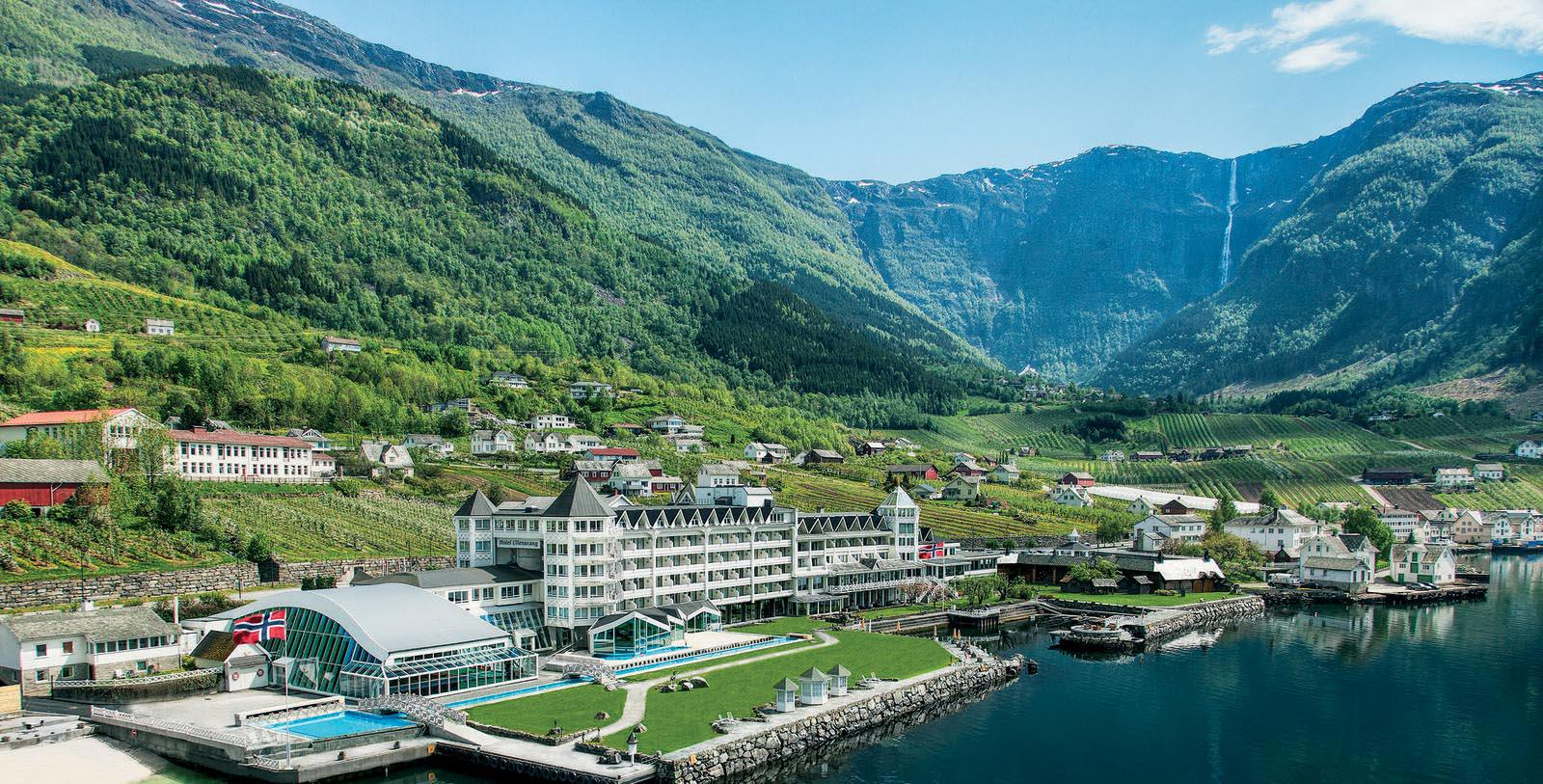Image of Exterior & Landscape, Hotel Ullensvang, Lofthus, Norway, 1846, Member of Historic Hotels Worldwide, Overview