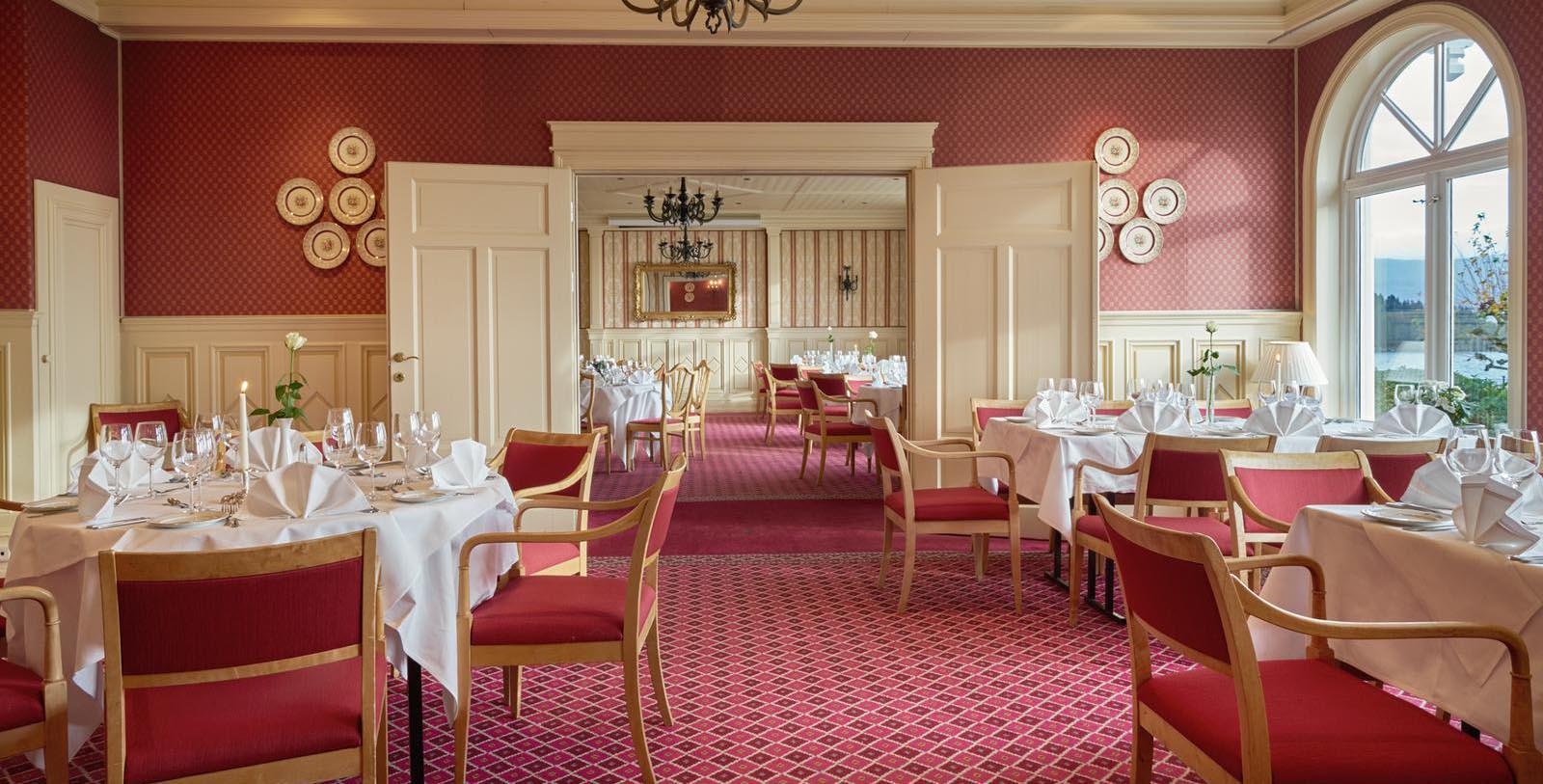 Image of Dining Room at Solstrand Hotel & Bad, 1896, Member of Historic Hotels Worldwide, in Os, Bergen, Norway, Taste