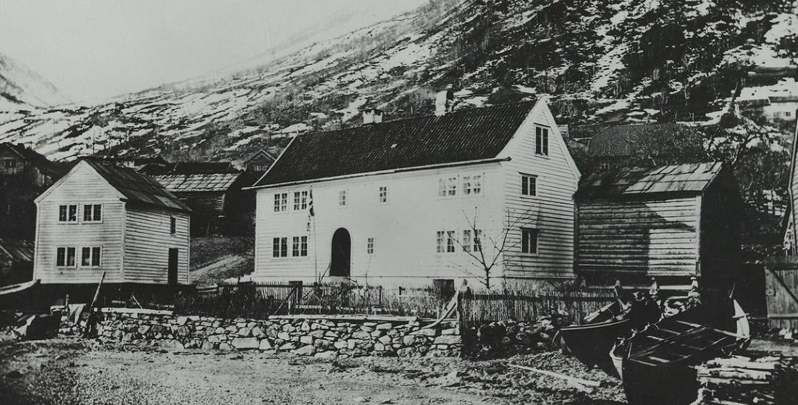 Historic Image of Hotel Exterior Utne Hotel, 1722, Member of Historic Hotels Worldwide, in Utne, Norway, Discover