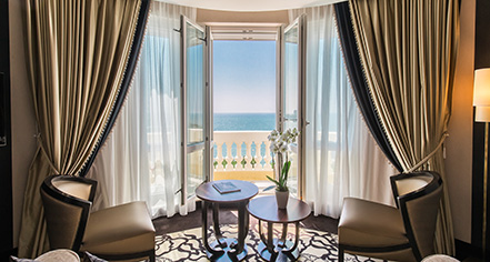 Accommodations:      Le Régina Biarritz Hôtel & Spa - MGallery by Sofitel  in Biarritz