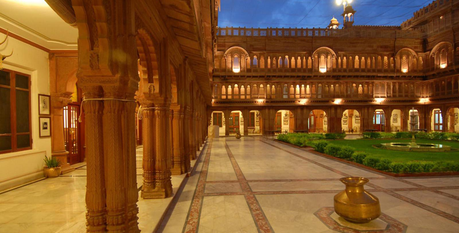 Image of Hotel Courtyard and Garden Laxmi Niwas Palace, 1904, Member of Historic Hotels Worldwide, in Bikaner, India, Discover
