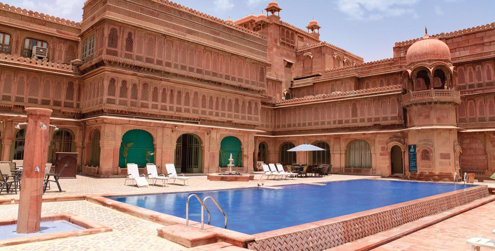 Image of Pool Laxmi Niwas Palace, 1904, Member of Historic Hotels Worldwide, in Bikaner, India, Explore