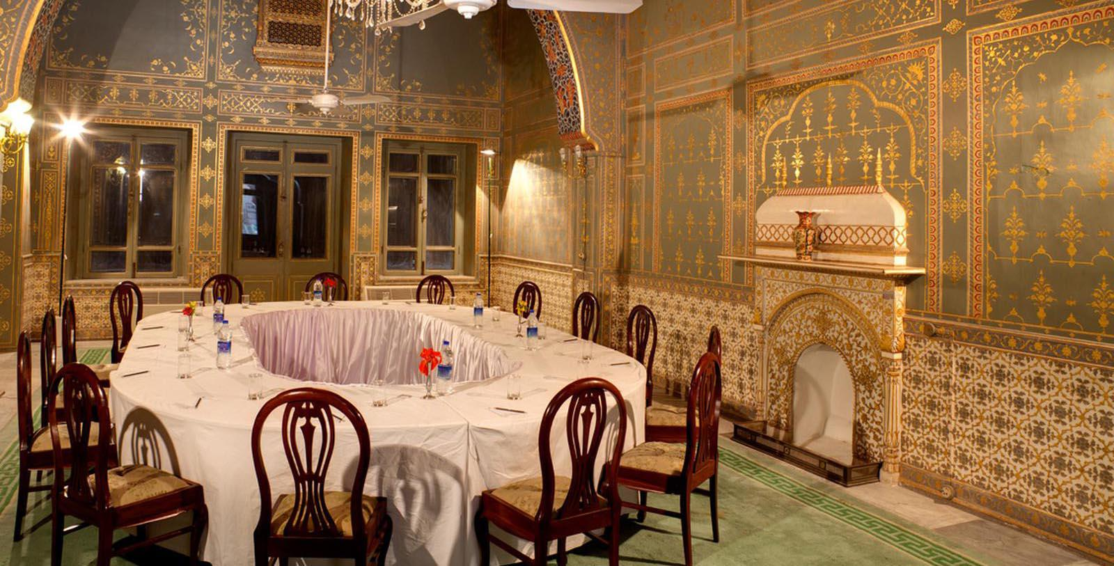 Image of Event Space Laxmi Niwas Palace, 1904, Member of Historic Hotels Worldwide, in Bikaner, India, Experience