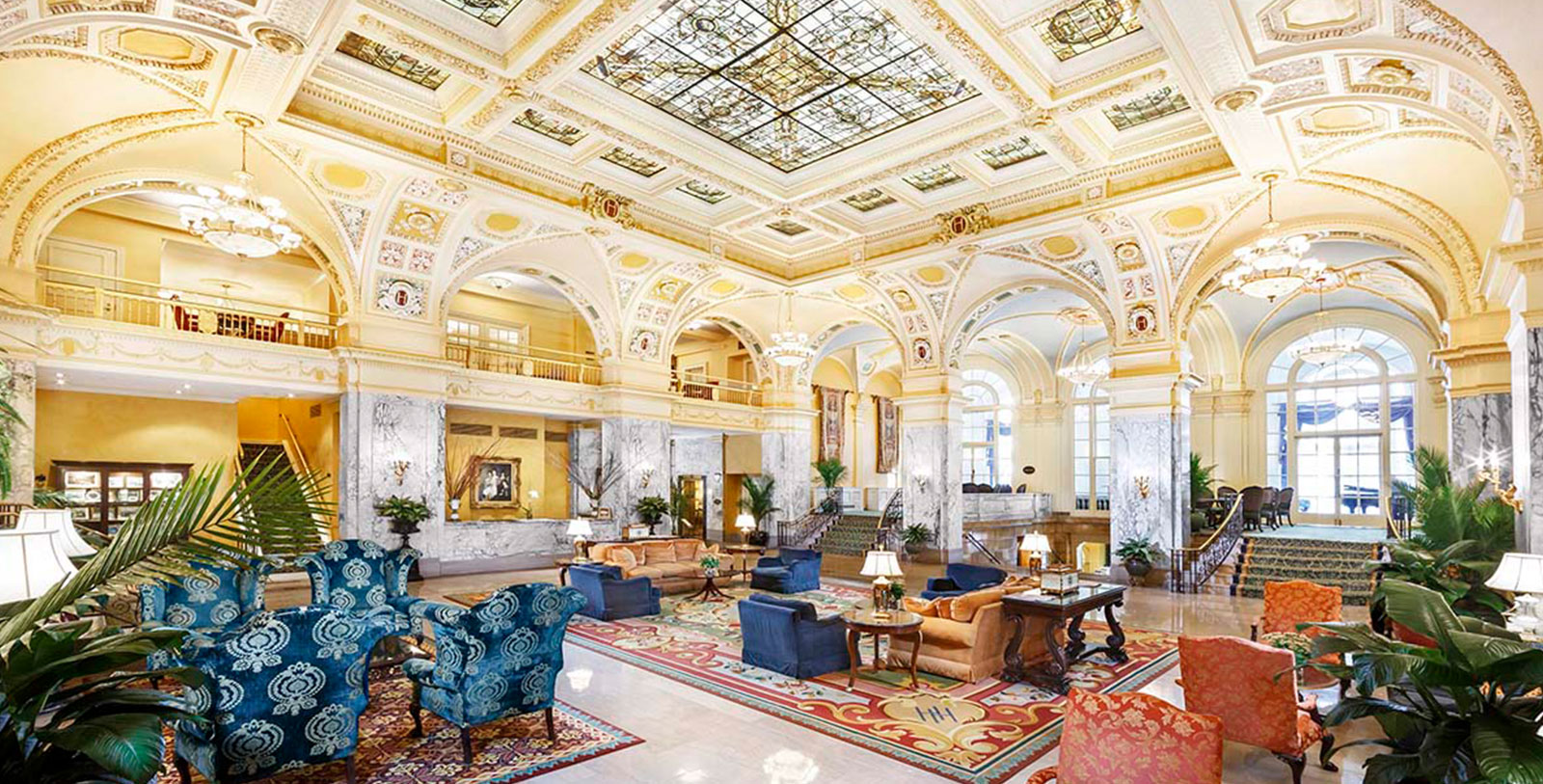 Image of Lobby, The Hermitage Hotel, 1910, Member of Historic Hotels of America, in Nashville, Tennessee, Hot Deals