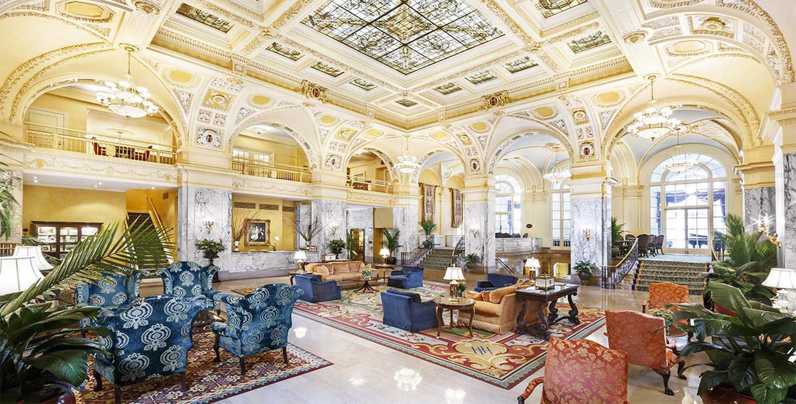 Image of Lobby The Hermitage Hotel, 1910, Member of Historic Hotels of America, in Nashville, Tennessee, Discover