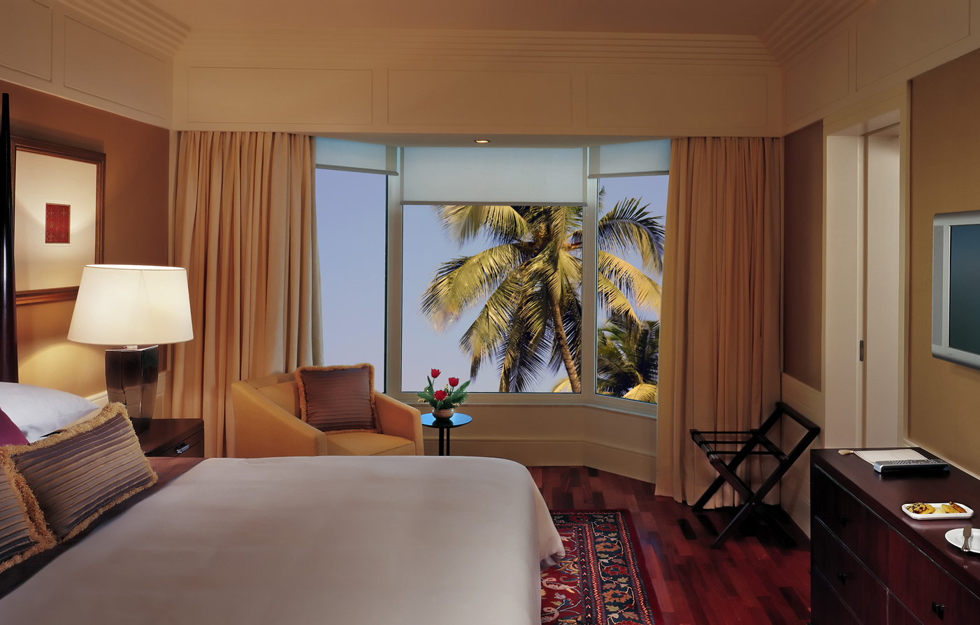 Accommodations:      The Leela Mumbai  in Mumbai