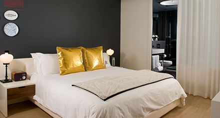 Accommodations:      Ames Boston Hotel, Curio Collection by Hilton  in Boston