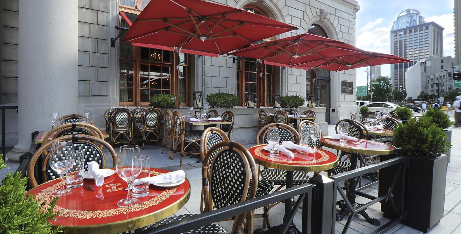 Image of exterior cafe Fairmont Copley Plaza, 1912, Member of Historic Hotels of America, in Boston, Massachusetts, Explore