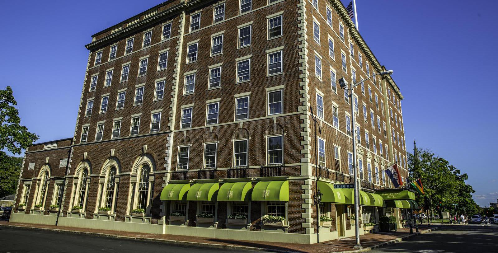 Image of hotel exterior Hawthorne Hotel, 1925, Member of Historic Hotels of America, in Salem, Massachusetts, Special Offers, Discounted Rates, Families, Romantic Escape, Honeymoons, Anniversaries, Reunions