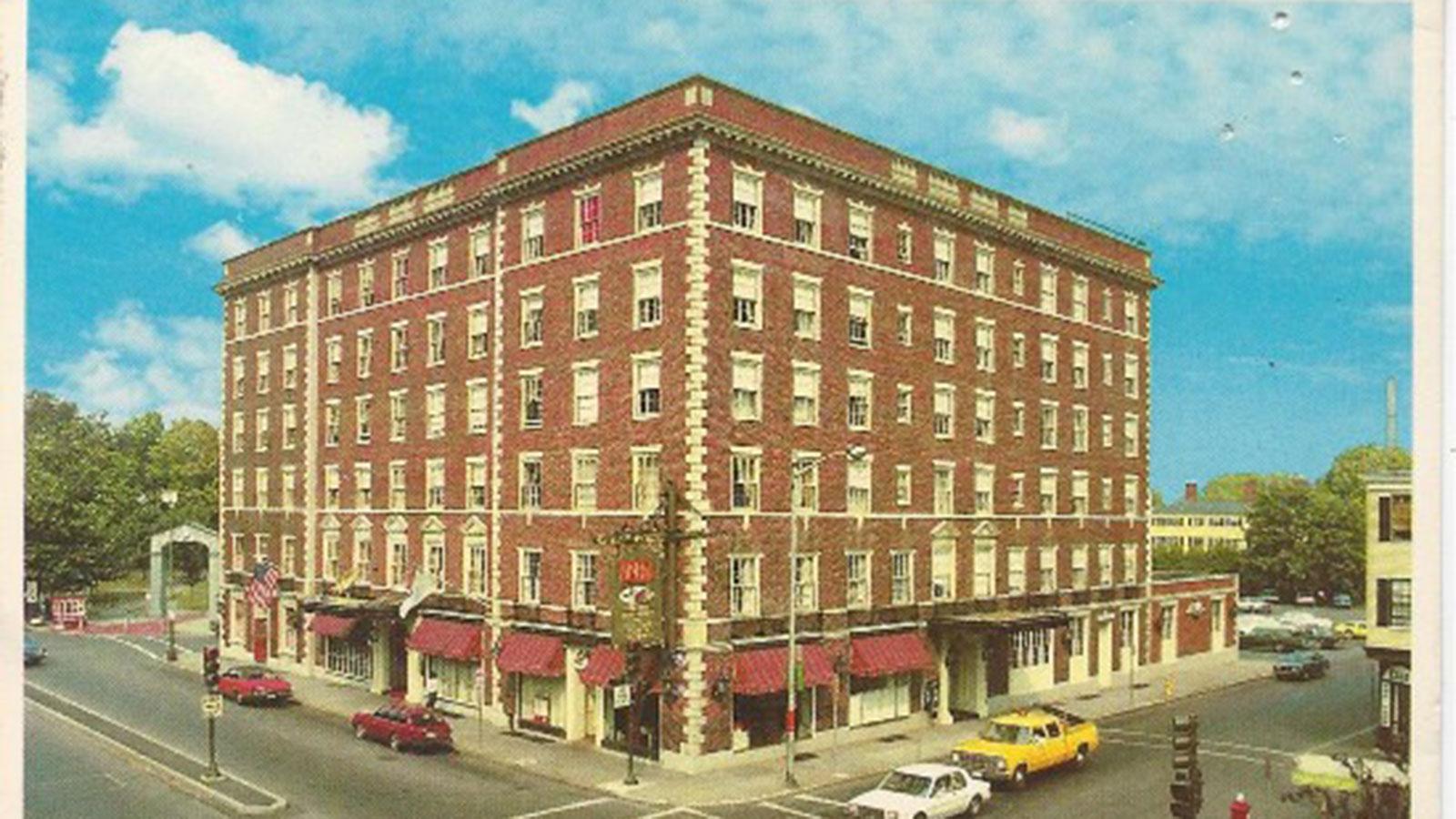Historic image of lobby Hawthorne Hotel, 1925, Member of Historic Hotels of America, in Salem, Massachusetts, Discover