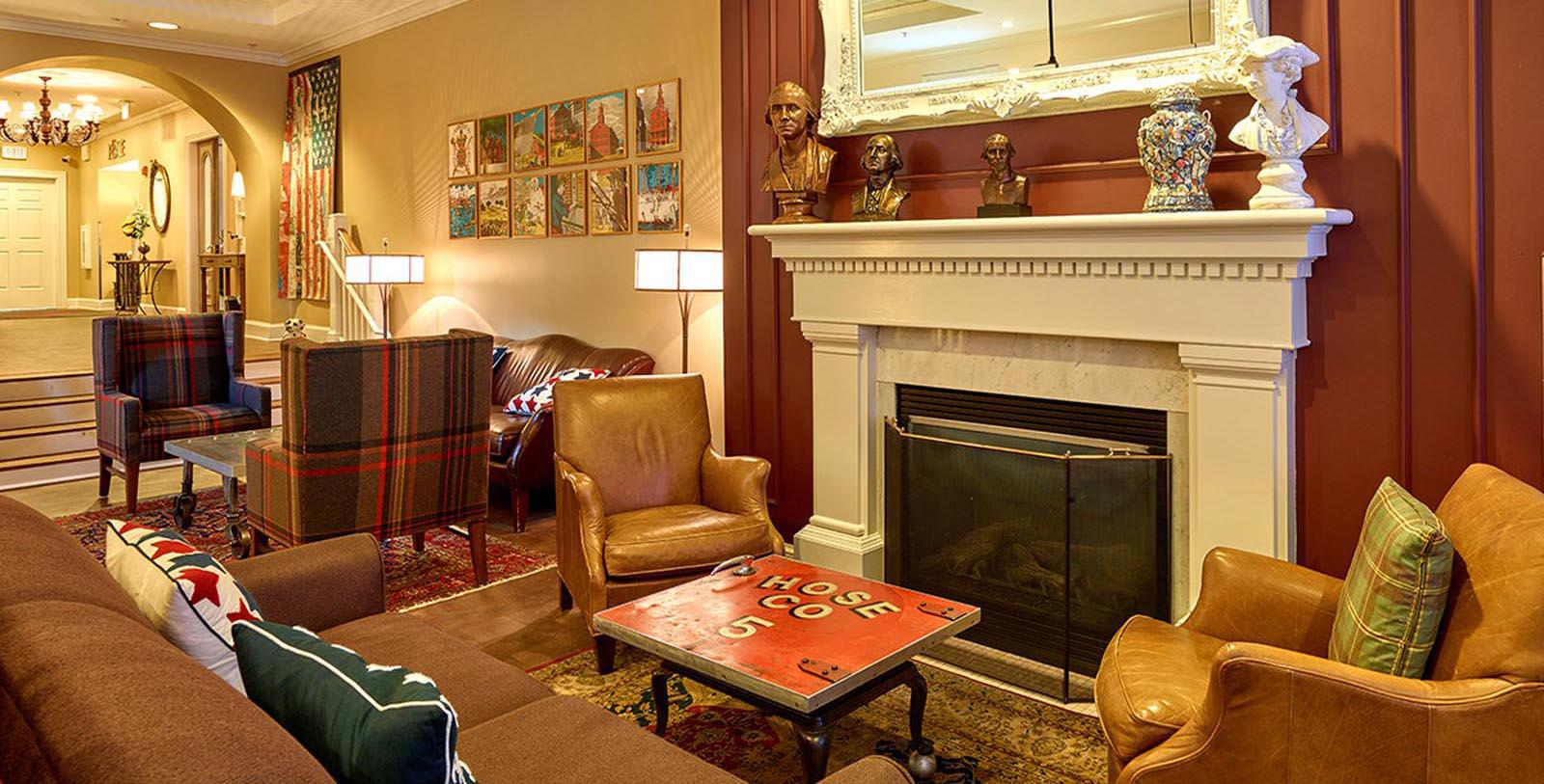 Image of Seating Area with Fireplace The Kendall Hotel, 1894, Member of Historic Hotels of America, in Cambridge, Massachusetts, Discover