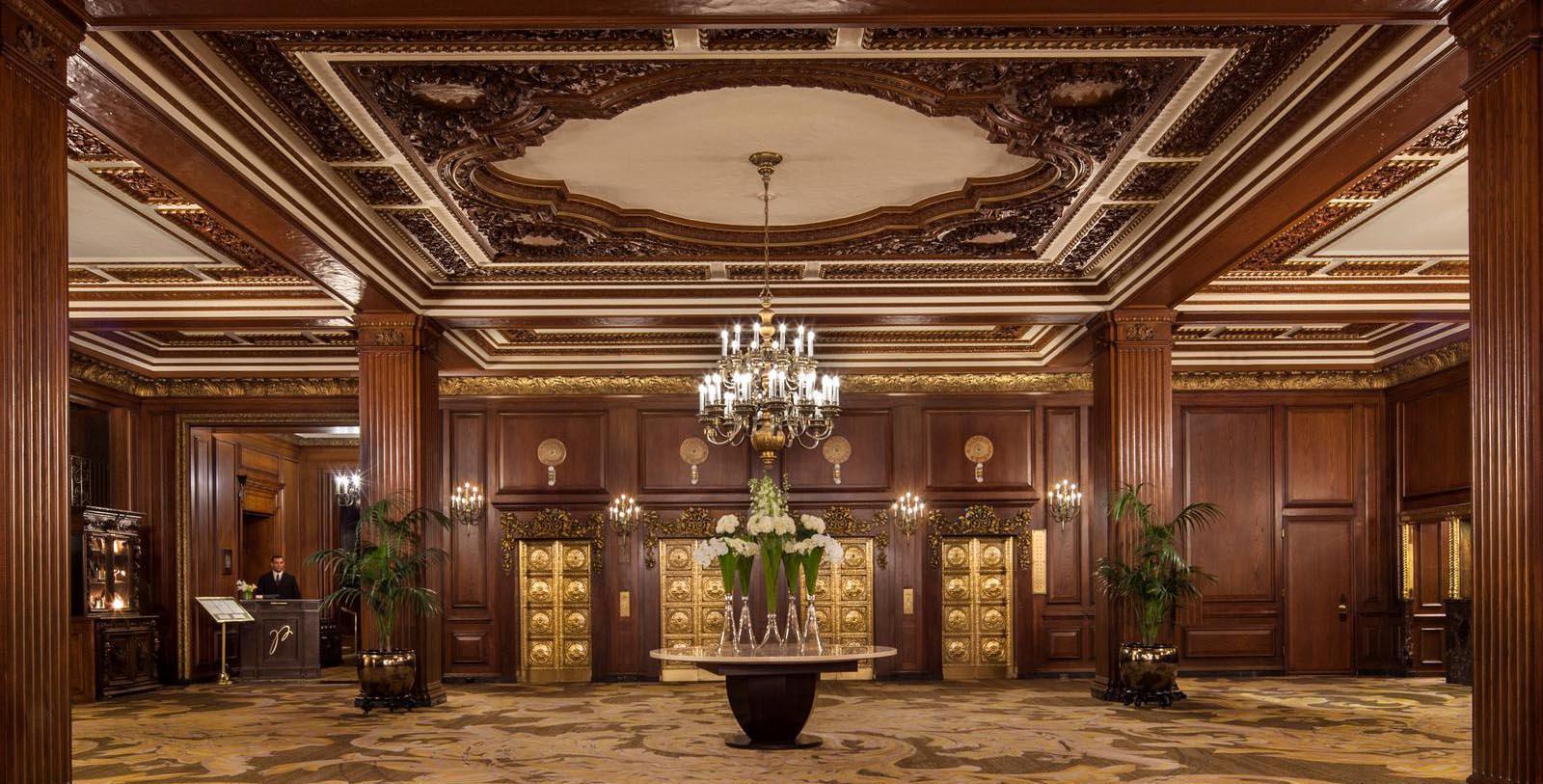 Image of Lobby Detail, Omni Parker House, Boston, Massachusetts, 1855, Member of Historic Hotels of America, Explore