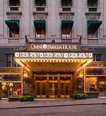 History:      Omni Parker House, Boston  in Boston