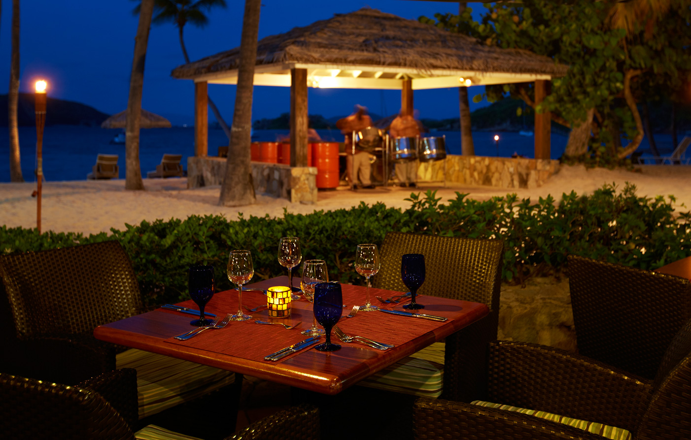 Dining:      Peter Island Resort  in Road Town
