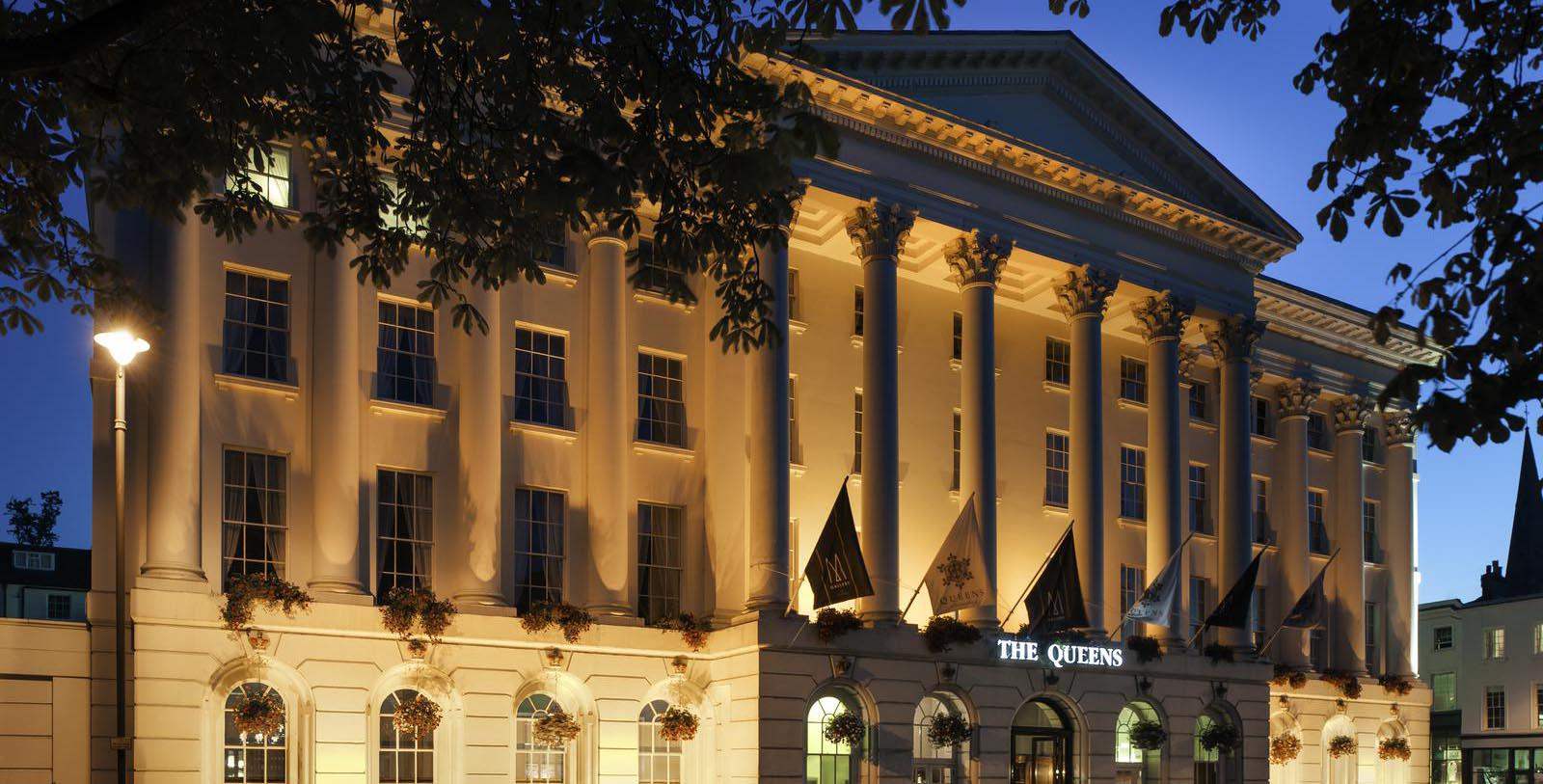 Image of Hotel Exterior Queens Hotel Cheltenham, 1838, Member of Historic Hotels Worldwide, Cheltenham, England, Special Offers, Discounted Rates, Families, Romantic Escape, Honeymoons, Anniversaries, Reunions