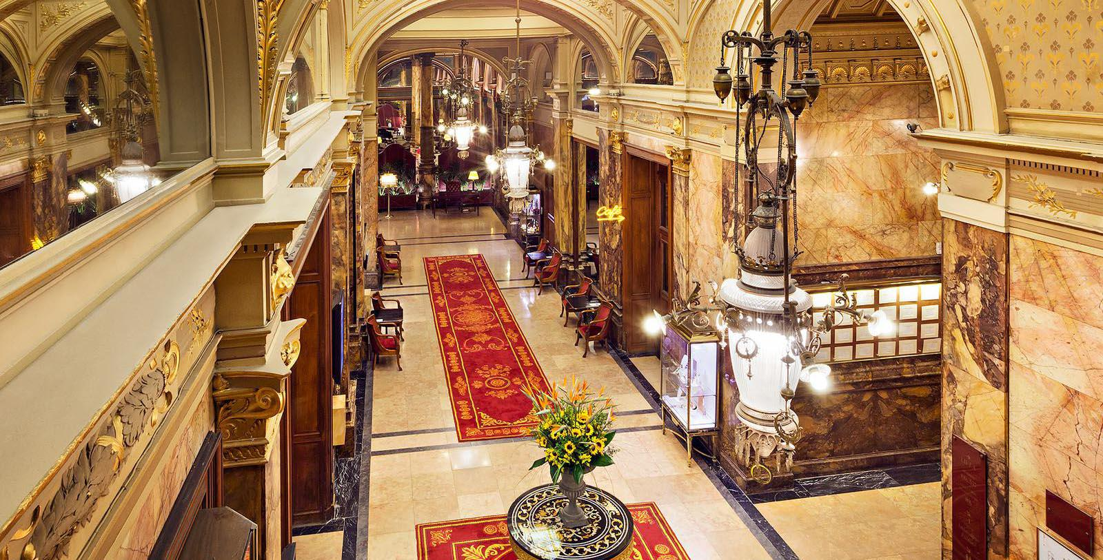 Image of Lobby, Hotel Metropole, Brussels, Belgium, 1895, Member of Historic Hotels Worldwide, Discover