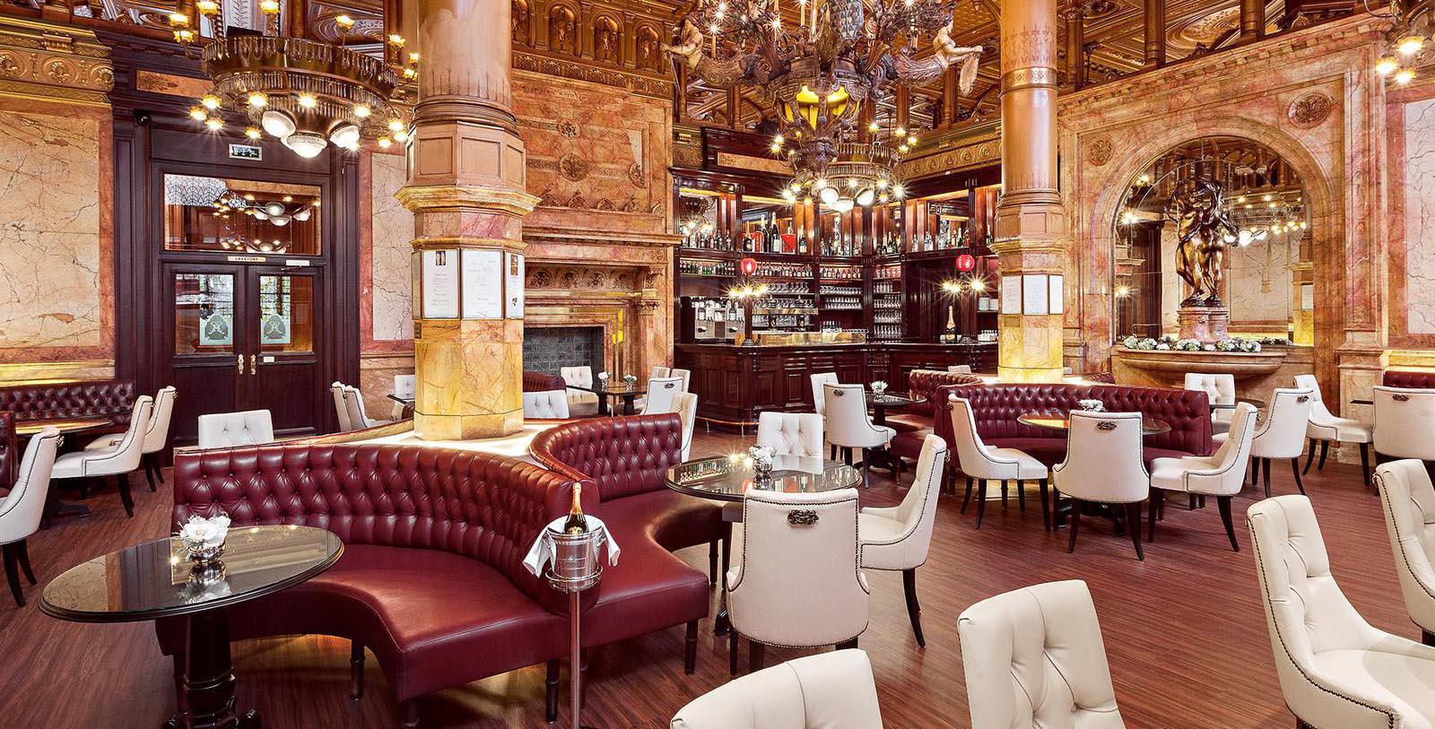 Image of Cafe Metroplole, Hotel Metropole, Brussels, Belgium, 1895, Member of Historic Hotels Worldwide, Explore