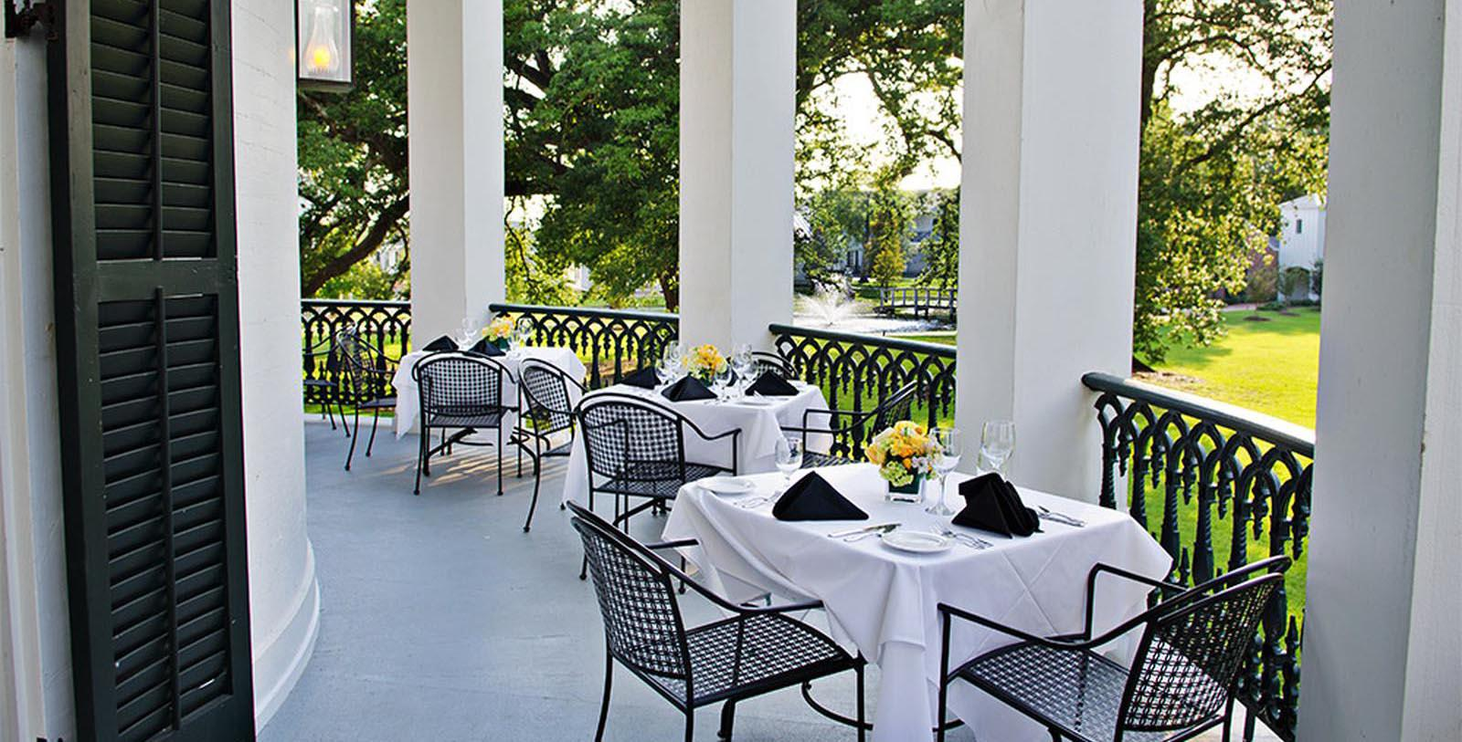 Image of The Manson Restaurant Patio, Nottoway Plantation and Resort, White Castle, Louisiana, 1859, Member of Historic Hotels of America, Taste