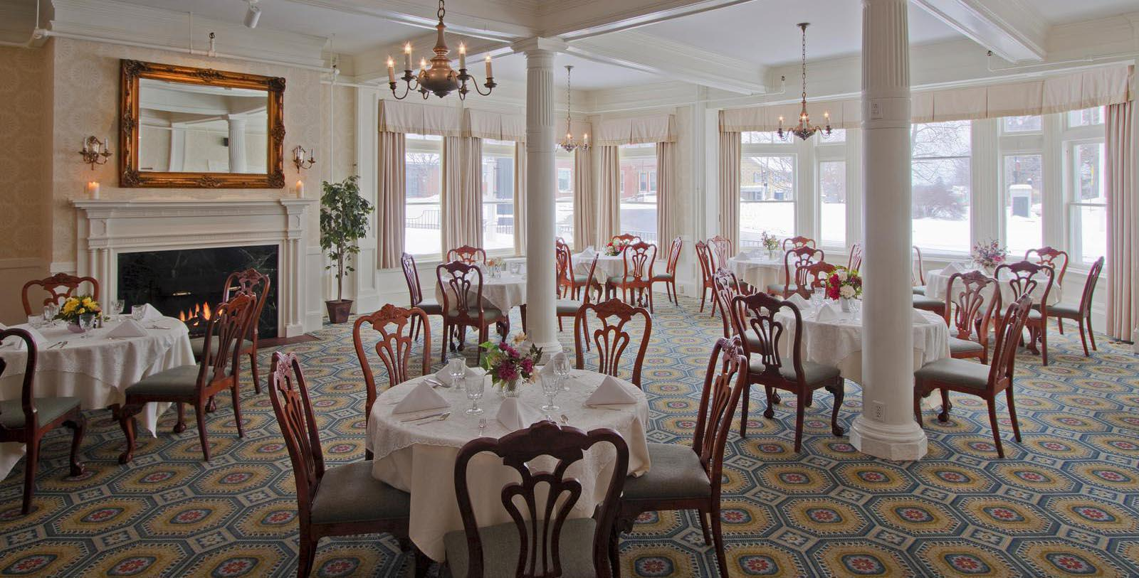 Image of Dining Room at Morgan's Tavern at The Middlebury Inn, 1827, Member of Historic Hotels of America, in Middlebury, Vermont, Taste