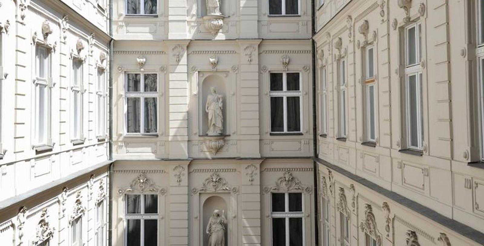 Image of Courtyard Detail, Hotel Nemzeti Budapest - MGallery by Sofitel, Budapest, Hungary, 1896, Member of Historic Hotels Worldwide, Discover