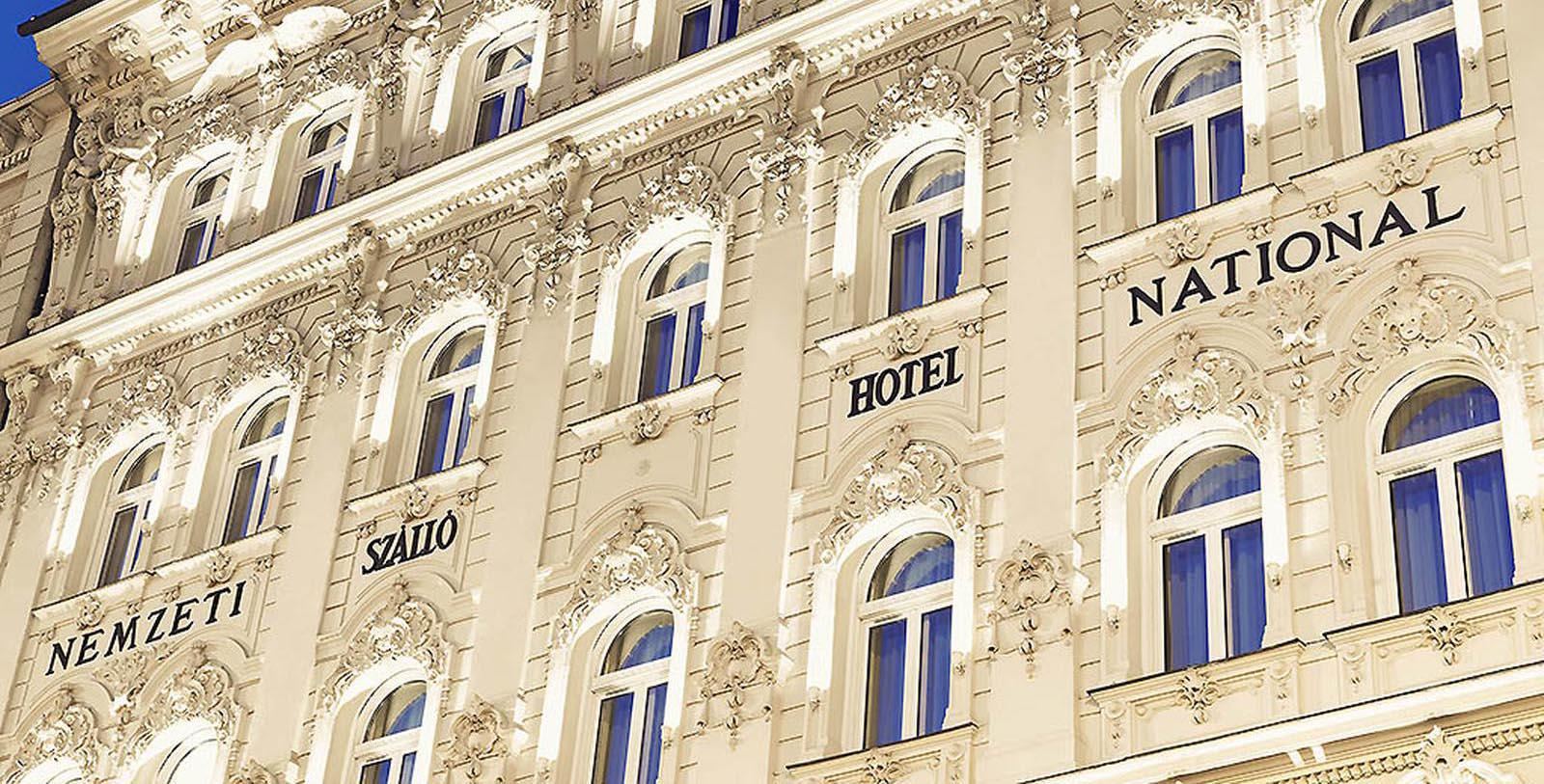 Image of Exterior, Hotel Nemzeti Budapest - MGallery by Sofitel, Budapest, Hungary, 1896, Member of Historic Hotels Worldwide, Special Offers, Discounted Rates, Families, Romantic Escape, Honeymoons, Anniversaries, Reunions