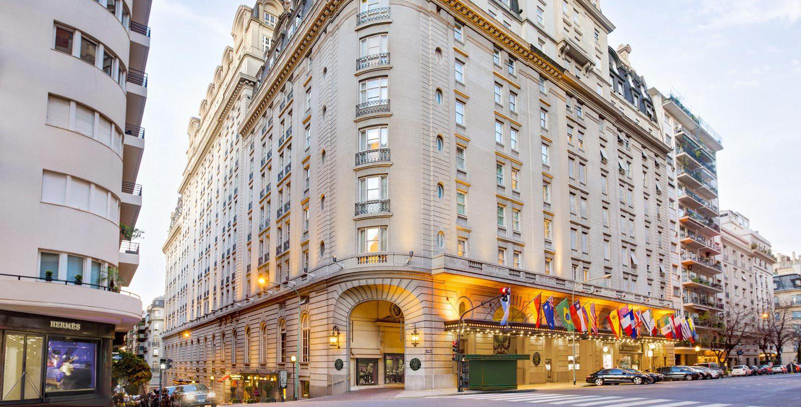 Image of hotel exterior Alvear Palace Hotel, 1932, Member of Historic Hotels Worldwide, in Buenos Aires, Argentina, Special Offers, Discounted Rates, Families, Romantic Escape, Honeymoons, Anniversaries, Reunions