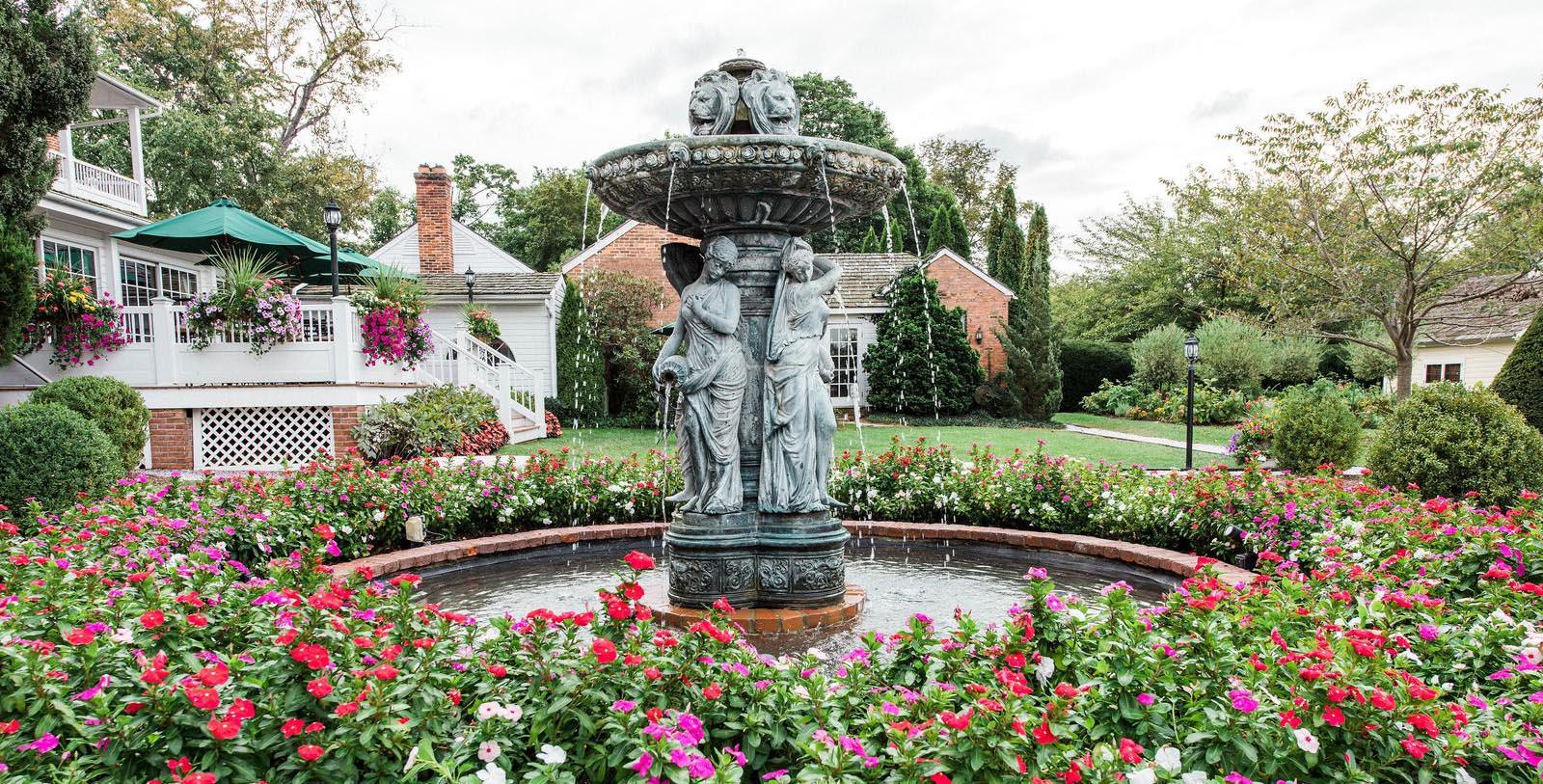 Image of Fountain Outside hotel at Antrim 1844, Member of Historic Hotels of America, in Taneytown, Maryland, Explore