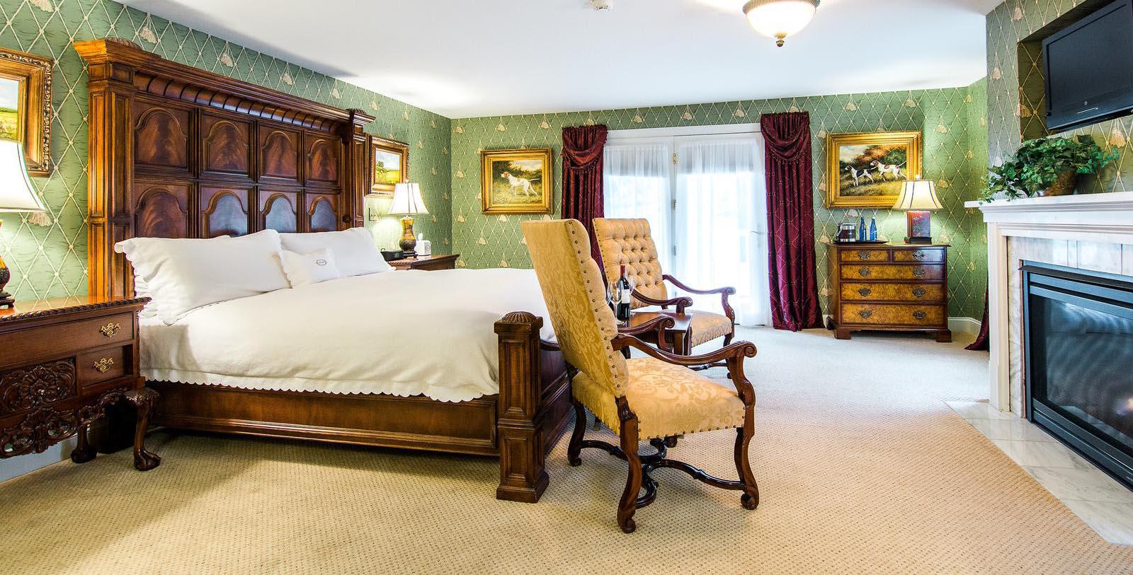 Image of Guestroom at Antrim 1844, Member of Historic Hotels of America, in Taneytown, Maryland, Location Map