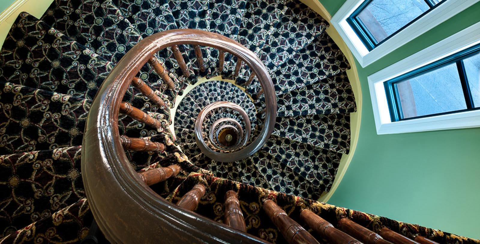 Image of Sprial Staircase, Hotel Brexton in Baltimore Maryland, 1881, Member of Historic Hotels of America, Discover
