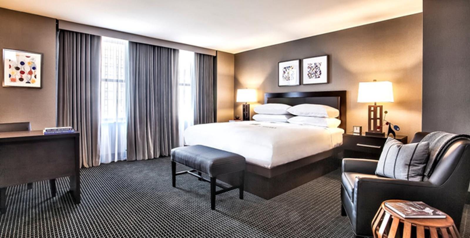 Image of Guestroom Interior, Lord Baltimore Hotel in Baltimore, Maryland, 1928, Member of Historic Hotels of America, Location Map
