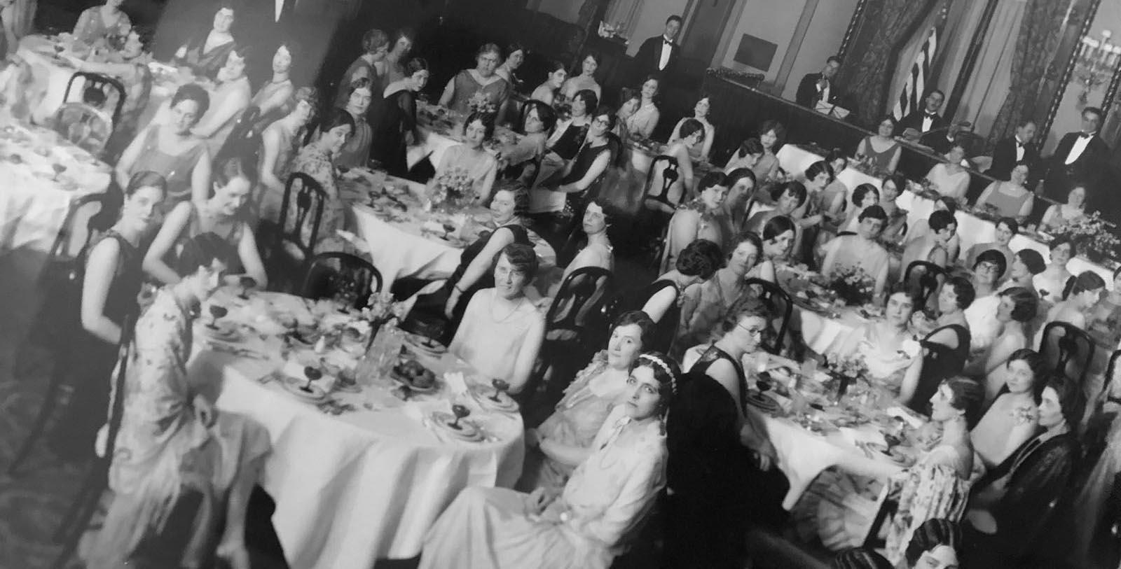 Image of Historic Event in Ballroom, Lord Baltimore Hotel in Baltimore, Maryland, 1928, Member of Historic Hotels of America, Discover