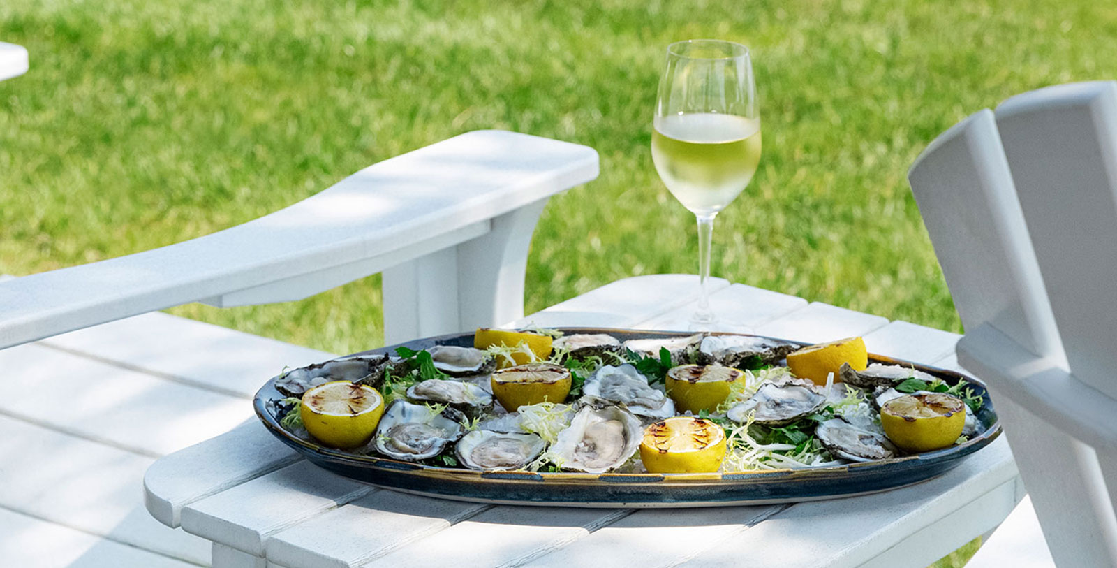 Image of Oysters and White Wine, Inn at Perry Cabin in St. Michaels, Maryland, 1816, Member of Historic Hotels of America, Taste