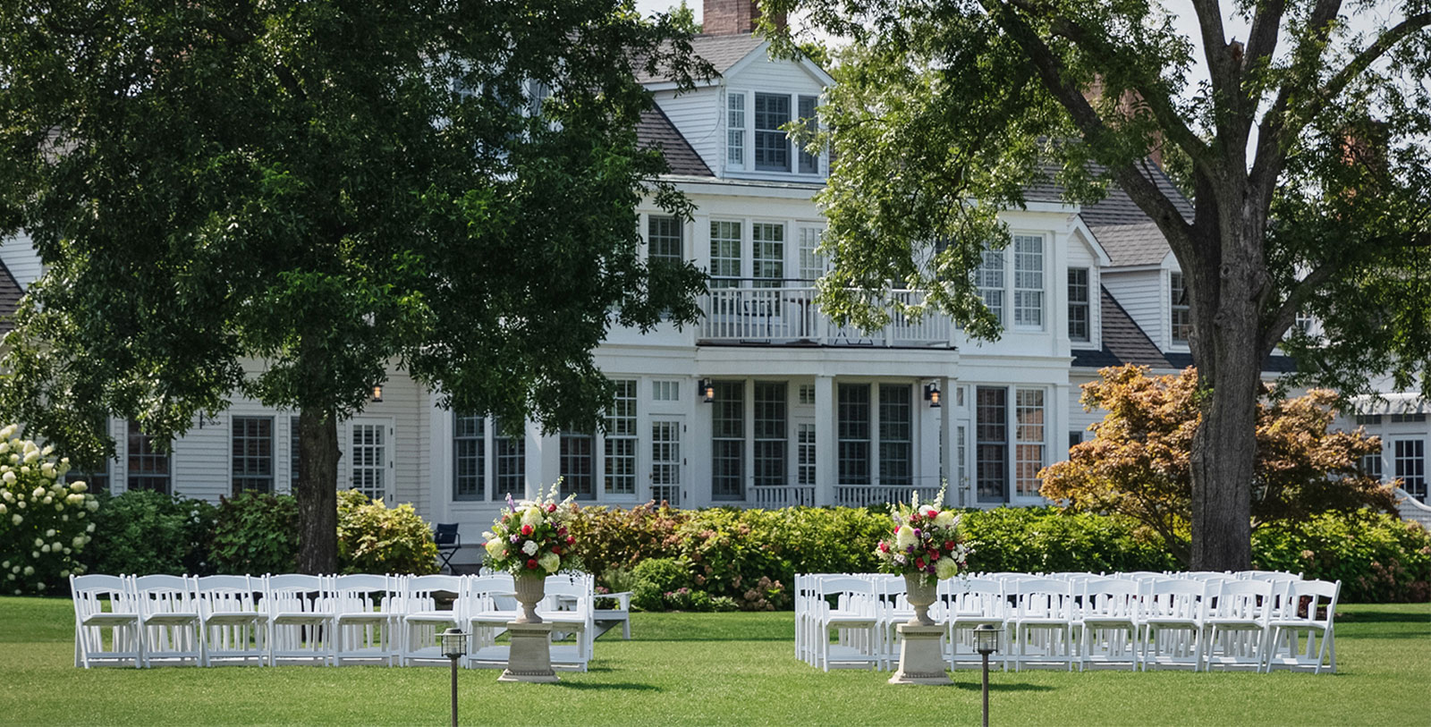 Image of Wedding Ceremony on Front Lawn, Inn at Perry Cabin in St. Michaels, Maryland, 1816, Member of Historic Hotels of America, Weddings