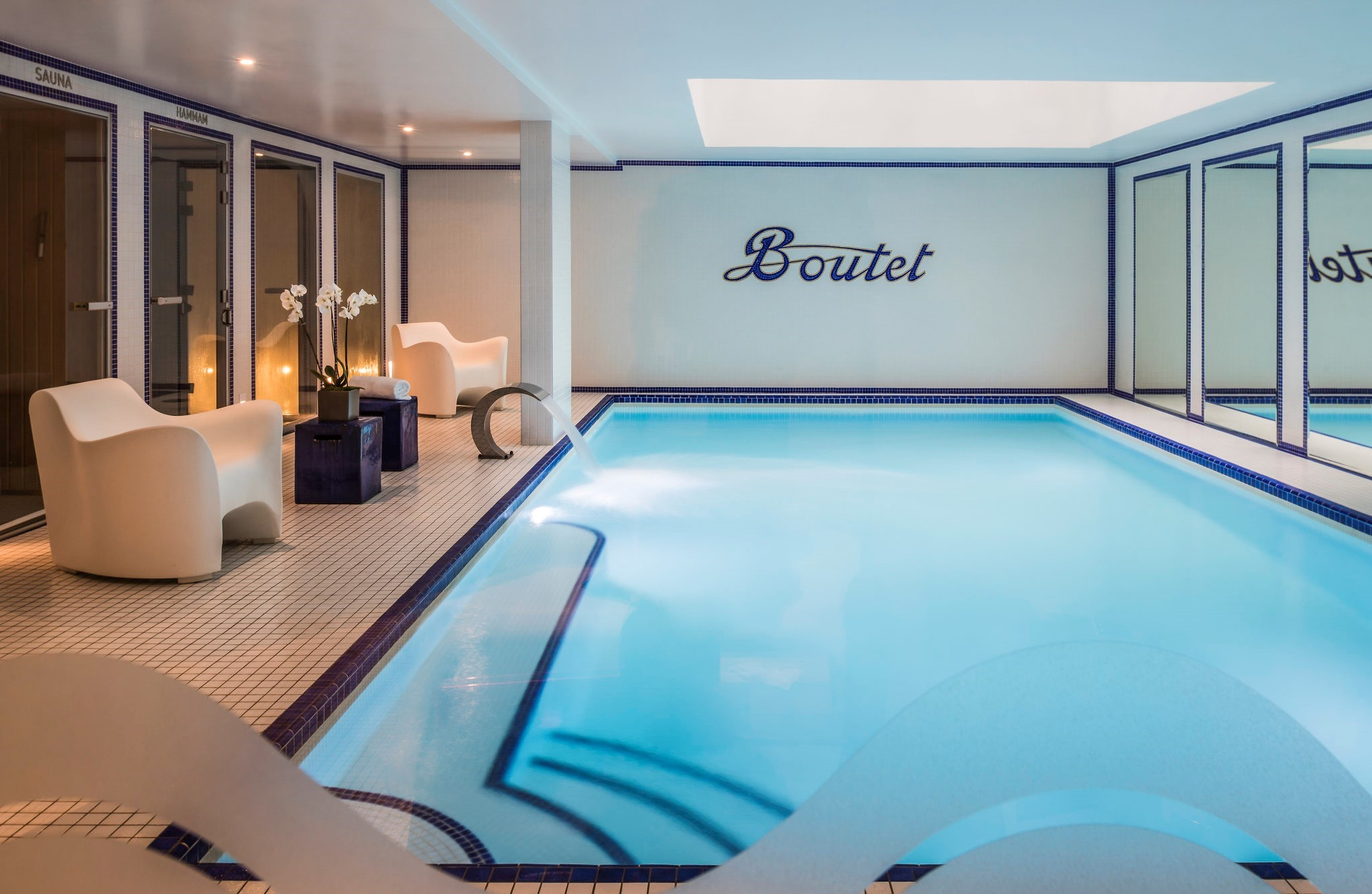 Image of Indoor Heated Pool Hôtel Paris Bastille Boutet - MGallery by Sofitel, 1926, Member of Historic Hotels Worldwide, in Paris, France, Spa