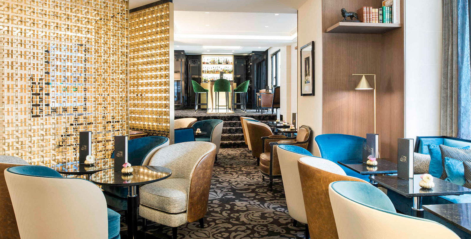 Image of 88B Bar Dining Area Sofitel Paris Baltimore Tour Eiffel, 1892, Member of Historic Hotels Worldwide, in Paris, France, Dining