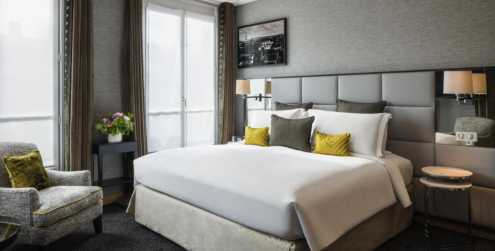 Image of Guestroom at Sofitel Paris Baltimore Tour Eiffel, 1892, Member of Historic Hotels Worldwide, in Paris, France, Location Map