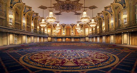 Image of empty grand ballroom available for weddings Hilton Chicago, 1927, Member of Historic Hotels of America, in Chicago, Illinois, Special Occasions