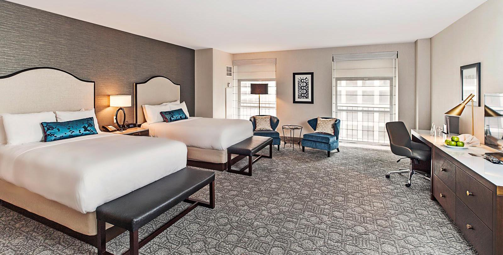 Image of Guestroom Interior, InterContinental Chicago Magnificent Mile in Chicago, Illinois, 1929, Member of Historic Hotels of America, Accommodations