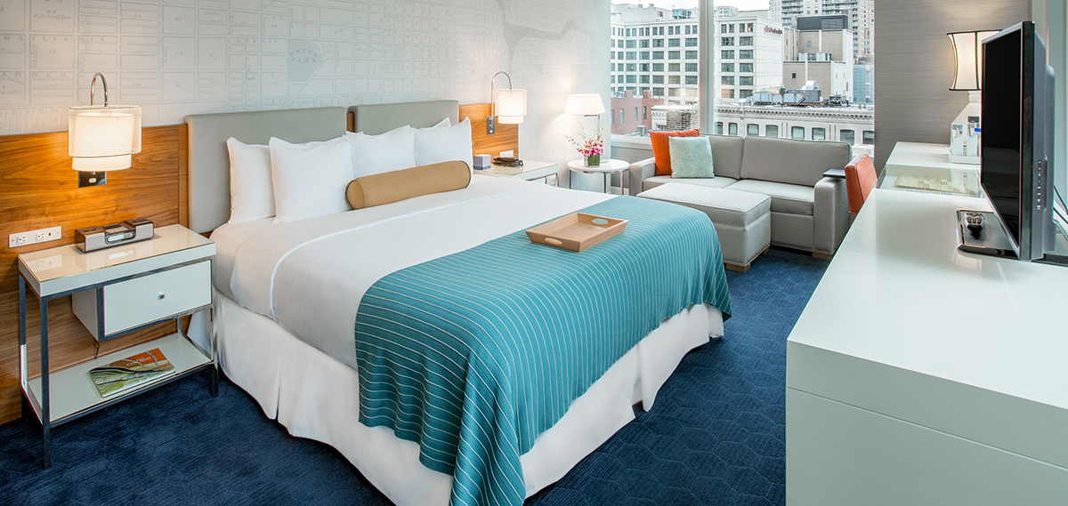 Accommodations:      Kinzie Hotel, Chicago  in Chicago