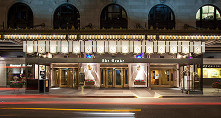 Activities:      The Drake Hotel  in Chicago