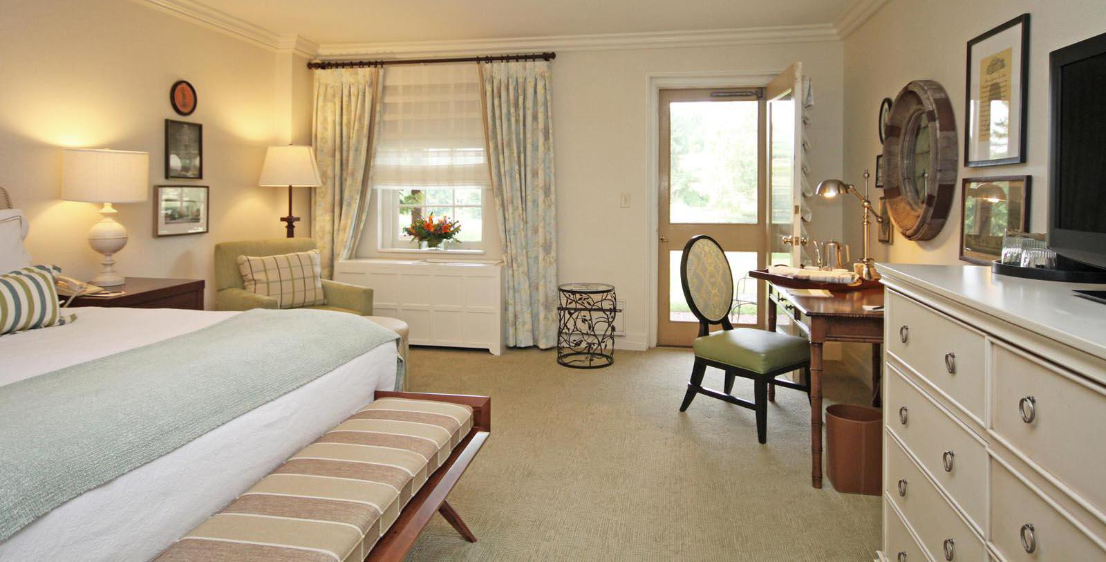 Image of Guestroom at Boar's Head Resort, 1834, Member of Historic Hotels of America, in Charlottesville, Virginia, Location Map