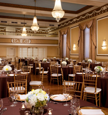 Image of meeting room banquet set up Francis Marion Hotel, 1924, Member of Historic Hotels of America, in Charleston, South Carolina, Special Occasions