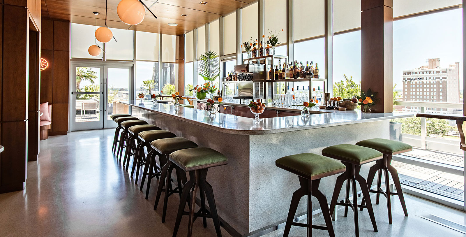 Image of Citrus Bar, The Dewberry, Charleston, South Carolina,1965, Member of Historic Hotels of America, Dining