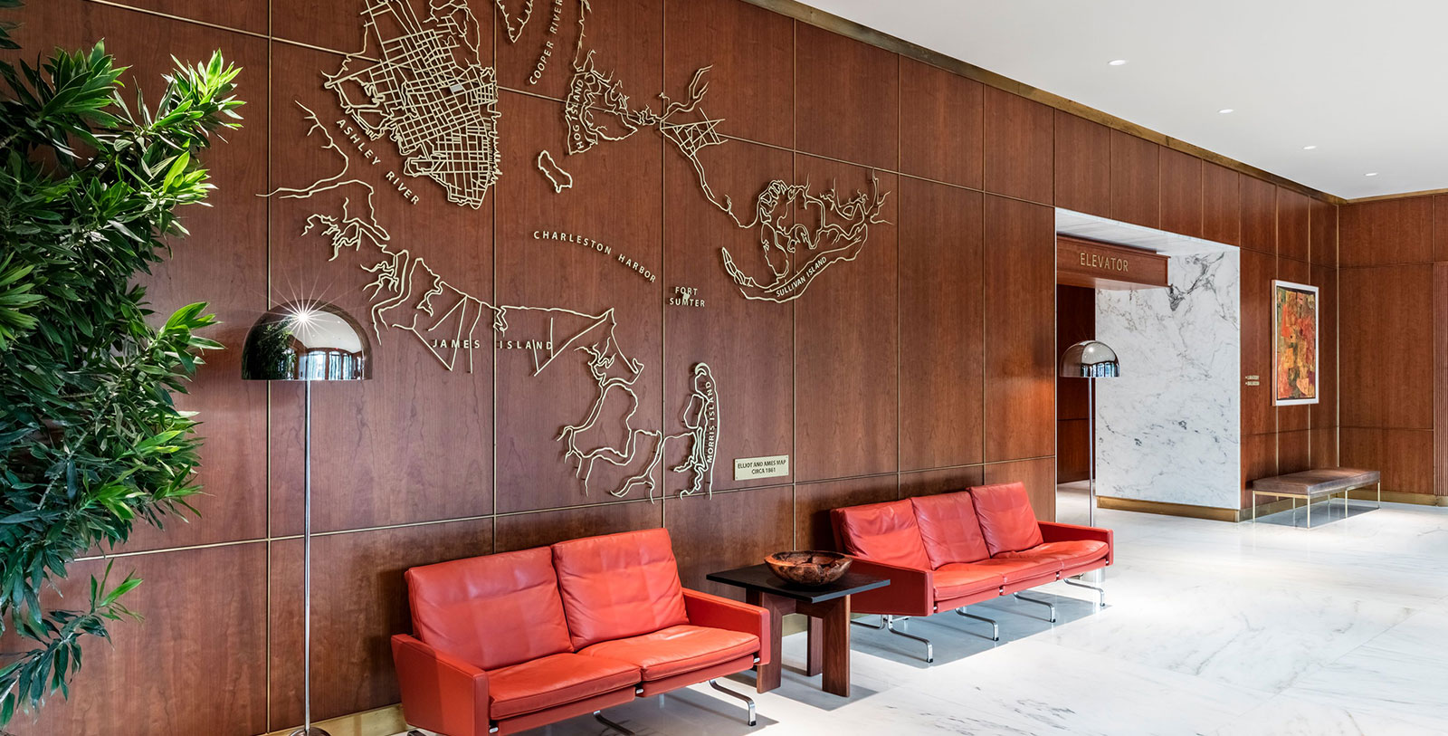 Image of Lobby The Dewberry, 1964,Member of Historic Hotels of America, in Charleston, South Carolina, Hot Deals