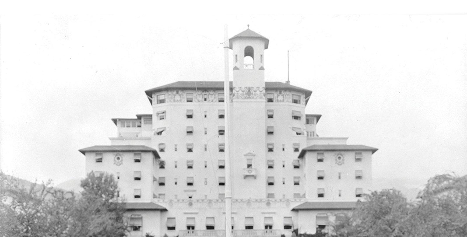 Historic image of the Broadmoor in Colorado Springs, Colorado