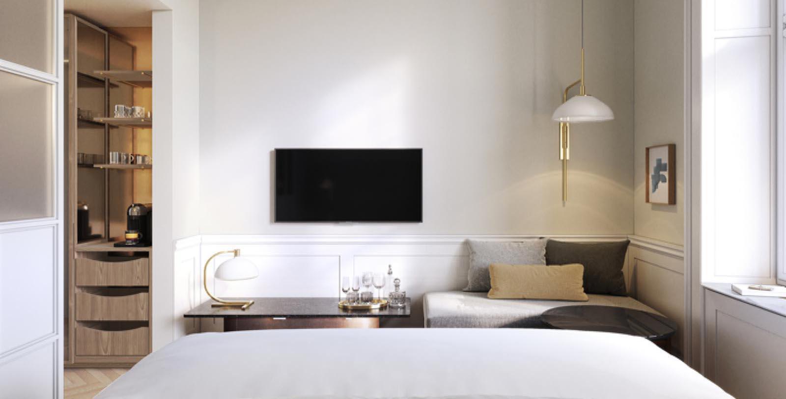 Image of Guestroom at Villa Copenhagen, 1912, Member of Historic Hotels Worldwide, in Copenhagen, Denmark, Explore